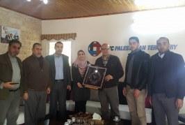 وفد من الإدارة العامة للتدريب المهني بوزارة العمل يزور مكتب وكالة التنمية البلجيكية BTC بغزة