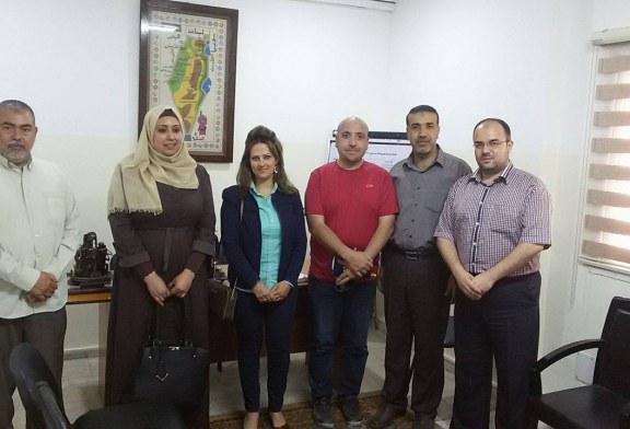 الادارة العامة للتدريب المهني تلتقي بممثلة مركز التمكين الاقتصادي للشباب الفلسطيني