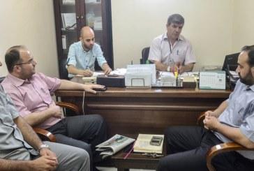 الادارة العامة للتعاون الدولي والعلاقات العامة تزور المكتب الاعلامي الحكومي