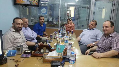 الادارة العامة للتعاون الدولي والعلاقات العامة تزور صحيفة فلسطين