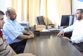مدير عام المديريات في جولة ميدانية لمديرية عمل خان يونس