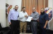 وزارة العمل توقع مذكرة تفاهم مع مصلحة مياه بلديات الساحل