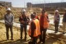 اللجنة الفنية للسلامة والصحة المهنية في محافظة خانيونس تنفذ زيارة تفتيشية على مشروع حفريات