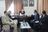 وزير العمل يلتقي رئيس الكلية الجامعية لدعم مشاريع الخريجين