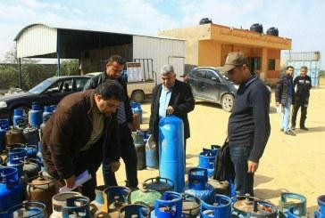 اللجنة الفنية للسلامة والصحة المهنية بمحافظة خانيونس تنفذ حملات تفتيش على محطات الغاز