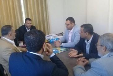 مديرية محافظة الوسطى تستقبل عميد كلية فلسطين التقنية