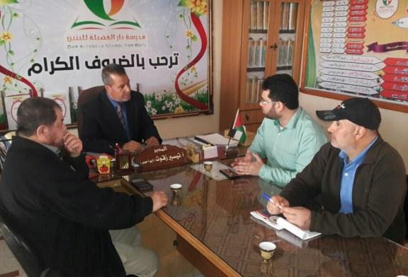مديرية عمل محافظة رفح تزور عدد من المؤسسات لتعزيز التعاون المشترك