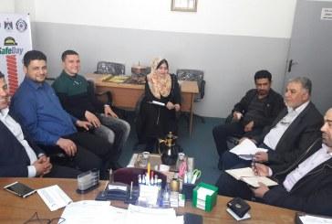 وزارة العمل ومصلحة مياه بلديات الساحل يبحثان تعزيز السلامة والصحة المهنية