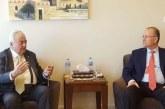 الوزير أبو شهلا ومصطفى يتفقان على برنامج لدعم المشاريع وتطوير التدريب المهني