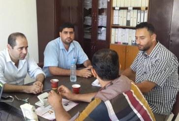 لجنة السلامة والصحة المهنية بمديرية عمل غزة  تطلق حملة تفتيشية على المدارس الخاصة لمتابعة تطبيق حقوق العاملين
